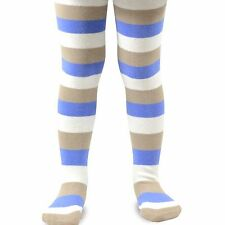 Naartjie Girls Stripes Cotton Tights, Ivory NWT