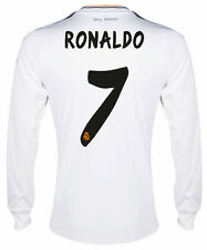 ADIDAS REAL MADRID C. RONALDO LONG SLEEVE HOME JERSEY 2013/14 LA LIGA SPAIN.