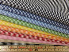 "Japanese 100% cotton 1/16"" tiny gingham fabrics yarn dyed woven quilting metre"