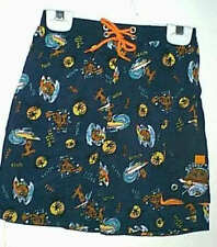 NWT BOYS SCOOBY DOO SWIM TRUNKS lined elastic waist size 2t red or 4, 5 ,6 blue