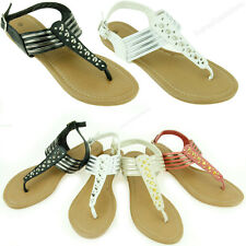 New Womens Fashion Sandals Flat Thongs Gladiator Summer Style Flip Flops