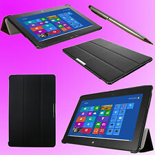 """Trifold Case Stand for 10.1"""" Asus VivoTab Smart ME400C + 2in1 Stylue Pen  F062U"""