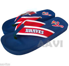 Atlanta Braves Contour Womens Officially Licensed Ladies Flip Flops Slippers NWT