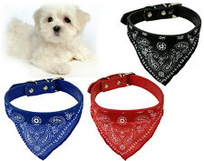 Adjustable Pet Dog Puppy Cat Neck Scarf Bandana with Collar Accessory