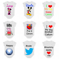 #Twitter Disney love Funny Baby Vest bibs Slogan Clothing Gifts