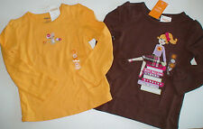 NWT GYMBOREE SUNFLOWER SMILES YELLOW MOUSE BROWN BOOKS GIRL SHIRT TOP YOU PICK