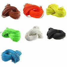 20m Leather Oblate Rope Necklace Bracelet String Cords Assorted Jewelry Making