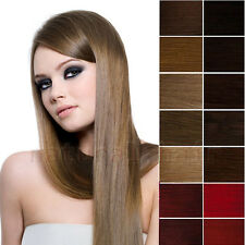 Clip In 100% Remy Real Soft Human Hair Extension DIY Full/Half Head Choose Color