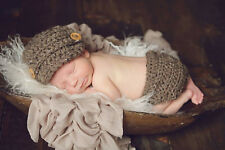 Newsboy Hat & Diaper Cover Photography Prop newborn 0-3 3-6 baby boy Crocheted