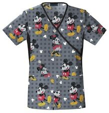 Cherokee Scrubs Text Me Mickey Scrub Top 6988C MKTX by Disney