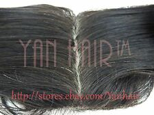 """IN STOCK12""""-20"""" High Quality Remy Virgin Human Hair Silk Top Swiss Lace Closure"""