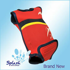 Konfidence Babywarma Wetsuit. Red. Baby Wrap Wetsuit. UV Protection