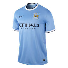Nike Manchester City Season 2013-2014 Home Soccer Jersey Brand New Sky Blue