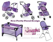 SNUGGLES DELUXE DOLLS RANGE - PRAM, PUSCHAIR, BUGGY, TRAVEL COT AND HIGH CHAIR