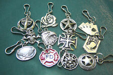 Zipper Pulls Skull & Crossbones Eagle MIA*POW Flag Dead Man's Hand Spider & More