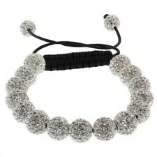 Disco Ball Bead Bracelet Shamballa Inspired Silve Faceted Beads Bracelet 10mm