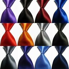 Hot Classic Black Red Tie Set Blue Green Mens Necktie Silk Jacquard Woven Hi-Tie