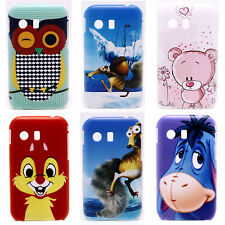 Cute Owl Pink Bear Mark Hard Back Shield Case Cover for Samsung Galaxy Y S5360