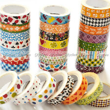 2013 New Japanese 15mm Wide Decorative Craft Paper Washi Tape Mulit Choice