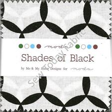 "Shades of Black Mini Charm Pack by Moda, Total of 42 - 2 1/2"" Precut Squares"