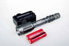1600 Lumen CREE XML XM-L T6 LED Zoom Flashlight Torch 2x 3000mAh 18650