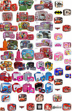 KIDS BOYS GIRLS DISNEY CHARACTER LUNCH PACK SET BAG DRINK BOTTLE & SANDWICH BOX