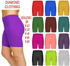 LADIES JERSYSTRETCHY CYCLING SHORTS OVER-KNEE ACTIVE/CASUAL/SPORT WOMEN GYM WEAR
