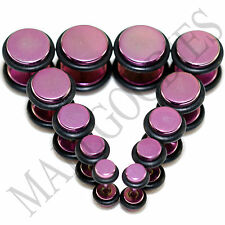 V120 Hot Pink Fake Cheaters Illusion Faux 16G Plugs 4G 2G 0G 00G 7/16 1/2 Steel