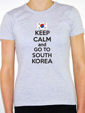 KEEP CALM AND GO TO SOUTH KOREA - Korean / Fun / Novelty Themed Women's T-Shirt