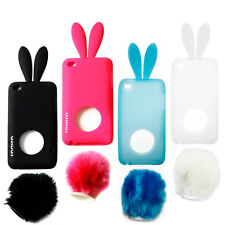 Cute Bunny Rabbit Skin Case Cover for Apple iPod Touch 4 4th Gen + Screen Guard