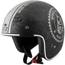 Speed and Strength SS600 Open Face Motorcycle Riding Helmet Black