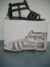 Ladies Ex Chainstore Stone or Grey Coloured Gladiator Sandals