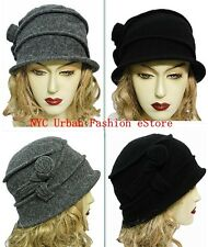 D&Y 100% Wool Soft Cloche Bucket Crushable Trendy Hat Winter Chic Cap (U.S Ship)