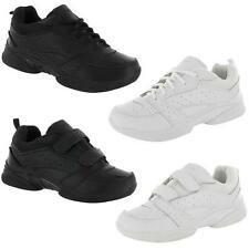 MENS LEATHER RUNNING TRAINERS BOYS LACE UP GYM TENNIS WALKING SPORTS SHOES SIZE