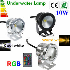 Underwater 10W 20W RGB Warm Cool IP68 LED Spotlight Lamp Flood Wall Wash Light