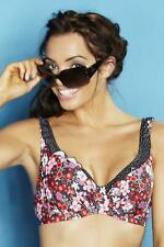 POUR MOI Ditsy Underwired Bikini Top New Sizes 32 34 36 38 D to HH Cups