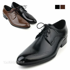 Formal Shoes for Men Classic Dress Oxfords Lace Up black brown Wing Tip Work