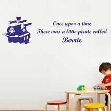 PERSONALISED PIRATE wall sticker boys bedroom pirates ship name quote art vinyl