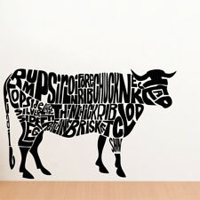 COW wall stickers animal transfers decals kids cartoon farmyard nursery vinyl