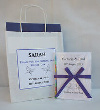 Personalised Children Wedding Activity Book & Bag Pack Ideal Gift Favour