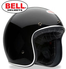 LATEST BELL USA CUSTOM 500 SOLID GLOSS BLACK OPEN FACE HELMET SIZES XS S M L XL