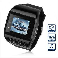 Unlocked Touch Screen GSM Dual SIM Bluetooth Hidden Camera Watch Cell Phone Q8
