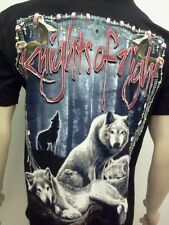 WOLF T-SHIRT New Free Shipping Howling Wolves And Moon Size SM,MED,LG,XL,2X,3X