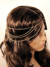 NEW BRIDAL WEDDING DRESS ACCESSORY BOHO HEAD CHAIN HAIR JEWELRY FREE SHIPPING