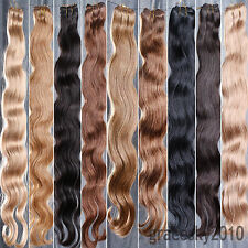 """100% Real Human Hair 12""""-26"""" Body Brazilian Wave Weave / Extensions Unprocessed"""