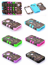 Newest High Impact Hard Soft Silicone Hybrid Back Case cover for iPhone 4 4G 4S