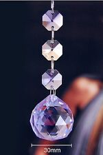 Two - Lilac - Lead Glass Crystal - 30 MM Crystal Ball - Chandelier Prisms