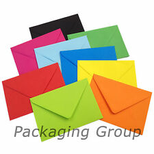 "50 5"" x 7"" Coloured Envelopes for  Greeting Cards - 133mm x 184mm - FREE UK POST"