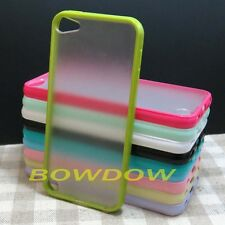 1 pcs Fashion TPU Bumper Clear Matte back Case cover for Apple ipod touch 5 5th