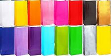 20 COLOURS TO CHOOSE PAPER PARTY LOOT BAGS BIRTHDAY TREAT FILLER LOOT BAGS GIFT